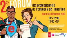 Affiche du Forum des Professionnels de l'emploi 2019